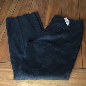 Ann Taylor black linen trousers size 8p NWT